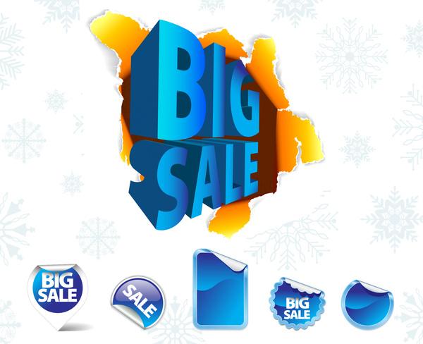 big sale tags set
