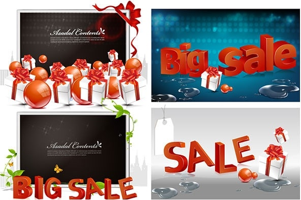 big sale theme vector