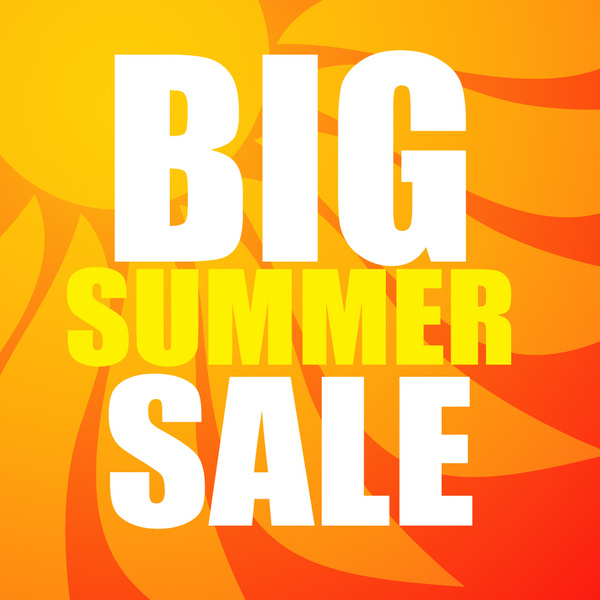 big summer sale text