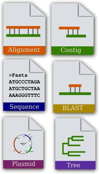 Bioinformatics Icon set