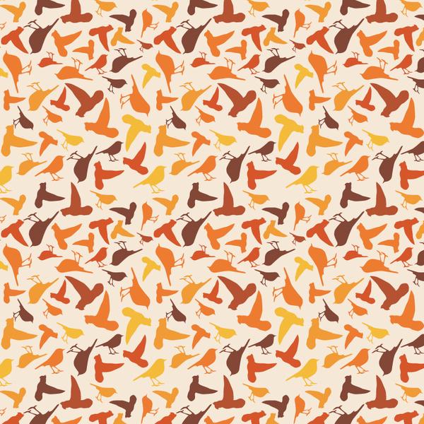 bird silhouette shape pattern