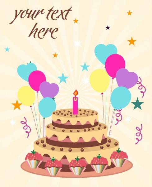 birthday cake background eventful decoration ballons decoration