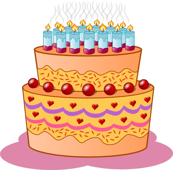 Birthday Cake Clip Art Free Vector In Open Office Drawing Svg Svg