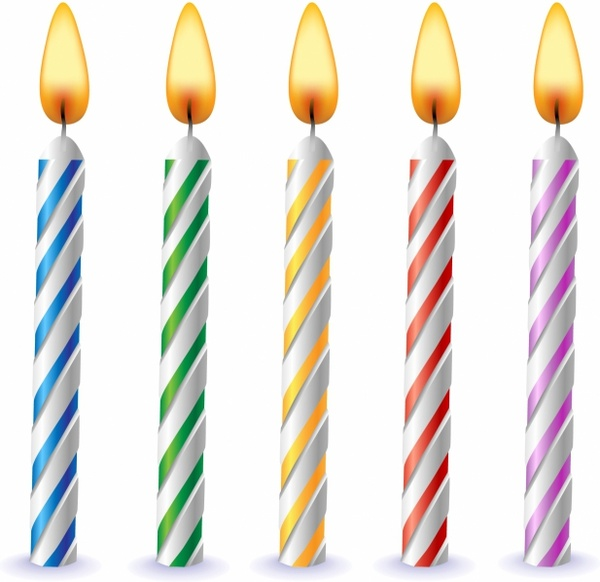 Wonderful Birthday Candles Free vector in Adobe Illustrator ai ( .AI  XI64