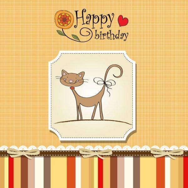 Birthday Card 03 Vector