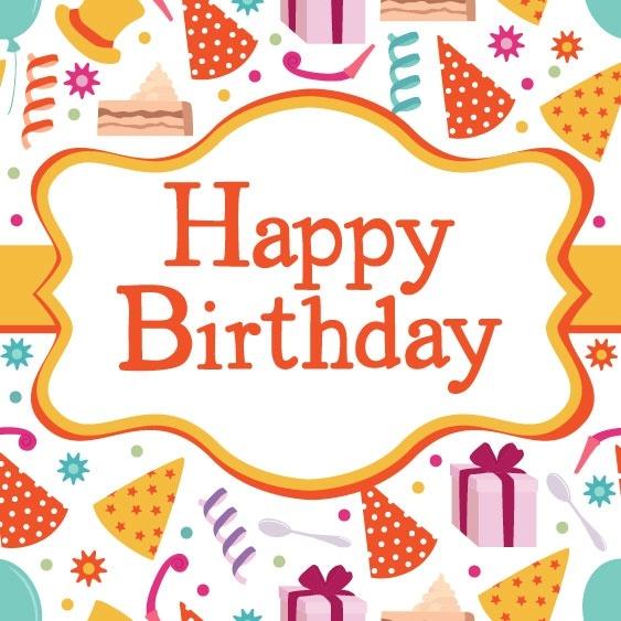 birthday card 04 vector