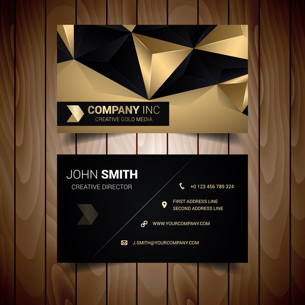 Black and gold abstract corporate business card free vector in adobe black and gold abstract corporate business card free vector 266mb reheart Choice Image