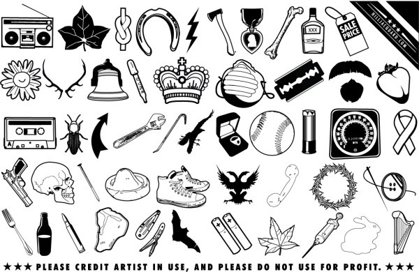 black and white clip art daily
