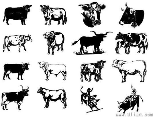 wild west design elements cow boys bulls icons free vector in adobe