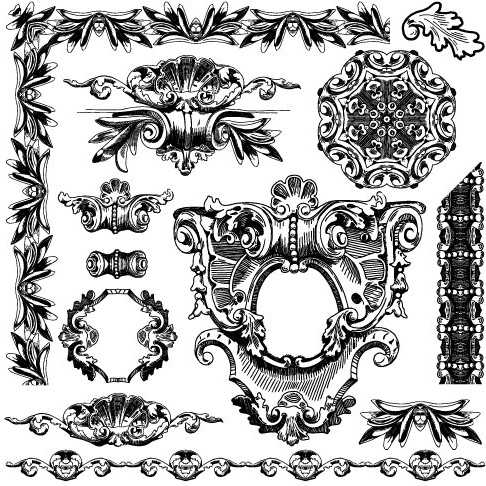 Black And White Decorative Pattern Borders Vector Free Vector In Impressive Decorative Designs For Borders