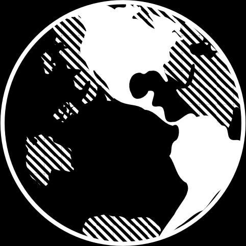 Black And White Earth Clip Art Free Vector 82.07KB