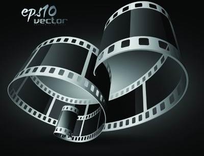 black and white film clip art 3d 1