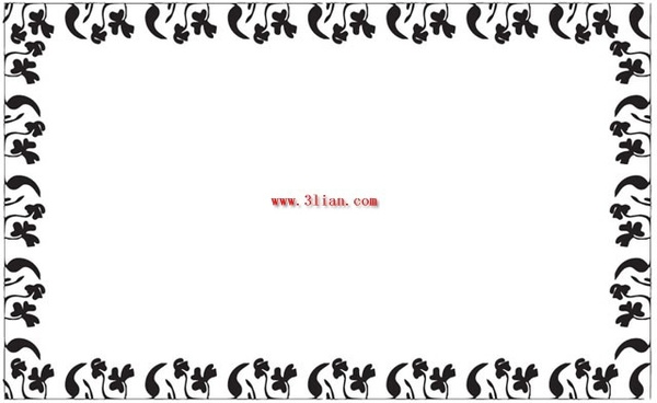 Black And White Floral Border Vector Free Vector In Encapsulated