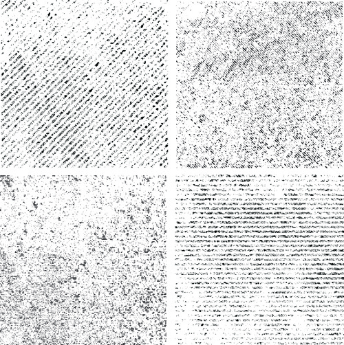 black and white grunge pattern vector