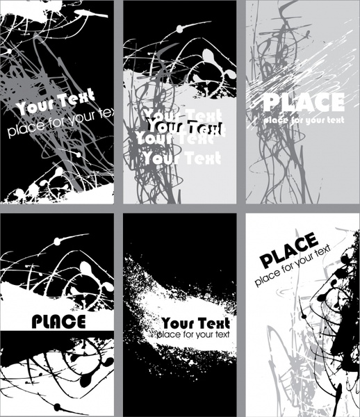 abstract background black white grunge stroke ink decor