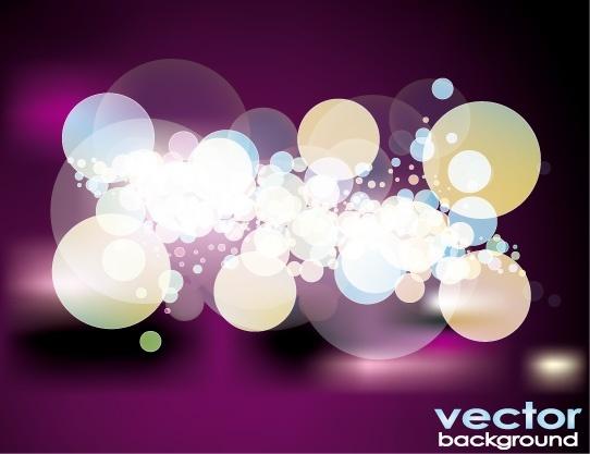 contrast bokeh background bright baubles on violet decoration