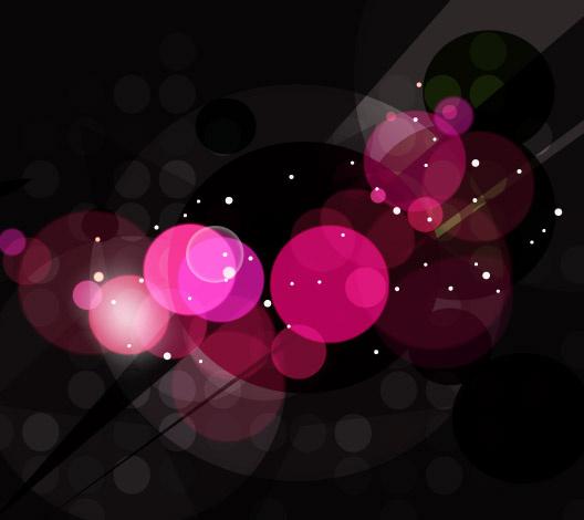 black background with big stars