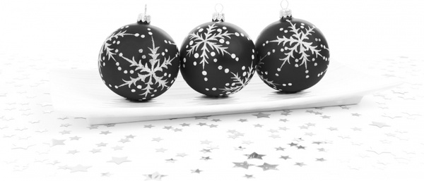 black bauble decoration