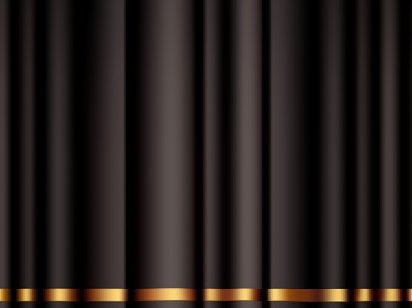 black curtain background modern 3d design