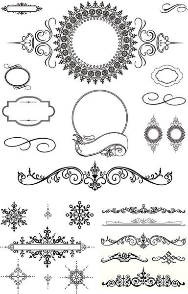 black decorative border vector free vector in encapsulated
