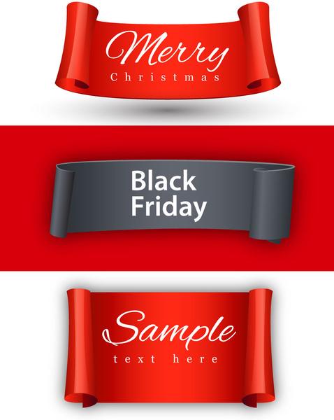 black friday banner design on christmas background