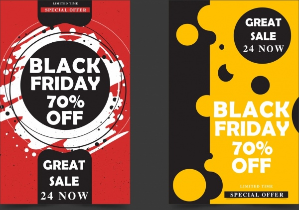 black friday banners grunge abstract decor