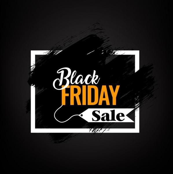 black friday sales banner grunge dark design