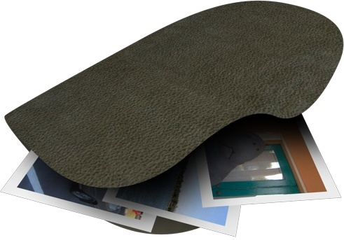 Black Leather Folder Photos