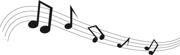 Black Music Notes Free Vector In Adobe Illustrator Ai Ai Vector