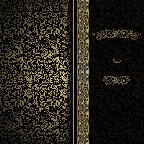Black Pattern Vintage Backgrounds Vector Free Vector In Encapsulated Impressive Black Pattern