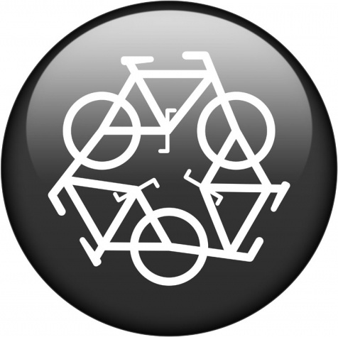 black recycle symbol