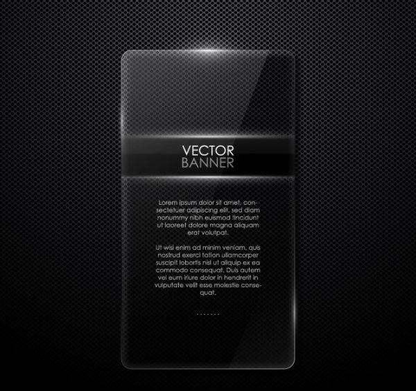 black texture banner vector