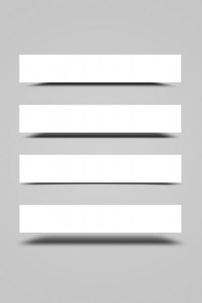 blank bannerpsd layered