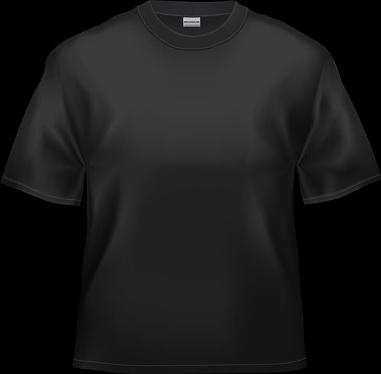 blank black tshirt stock photo