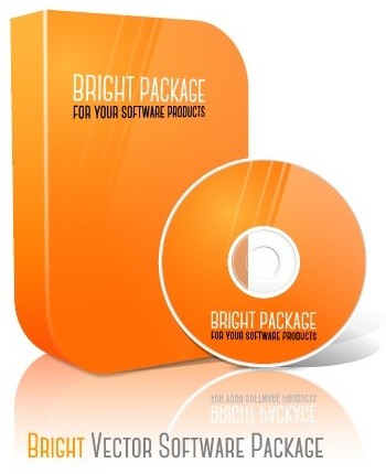 blank cd package box vector template