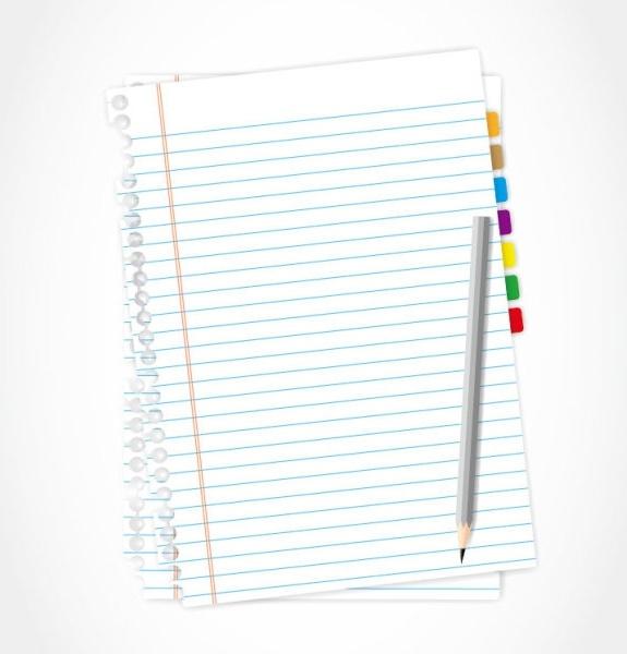 blank paper 15 vector
