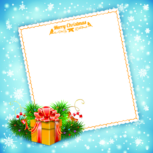 blank paper christmas greeting card vector free vector in