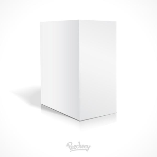 Blank white cardboard box template Free vector in Adobe Illustrator ...