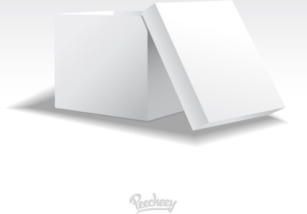 Blank white opened cardboard box template Free vector in Adobe ...