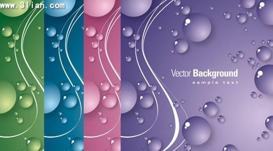 decorative background templates colorful design bubbles decor