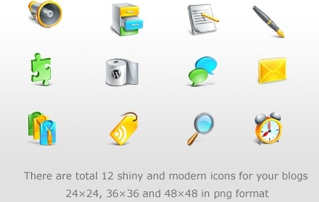 Blogging Icons Set icons pack