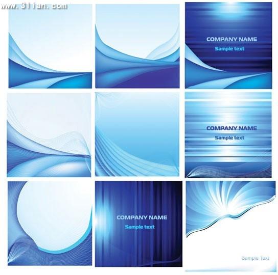 business brochure templates modern abstract blue decor