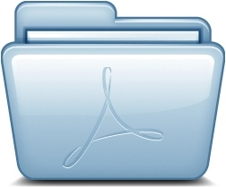 Blue Adobe PDF