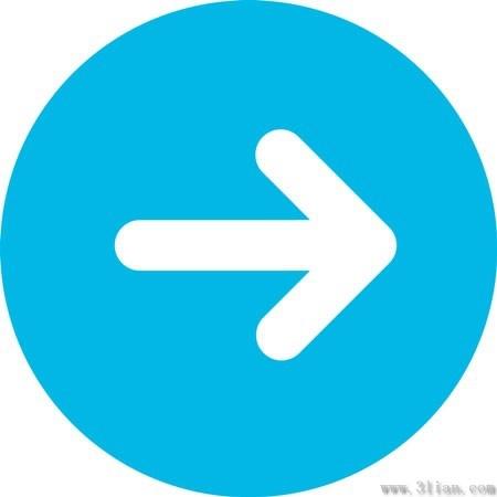 Blue Arrow Icon Vector Free Vector In Adobe Illustrator Ai