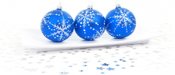 blue bauble decoration