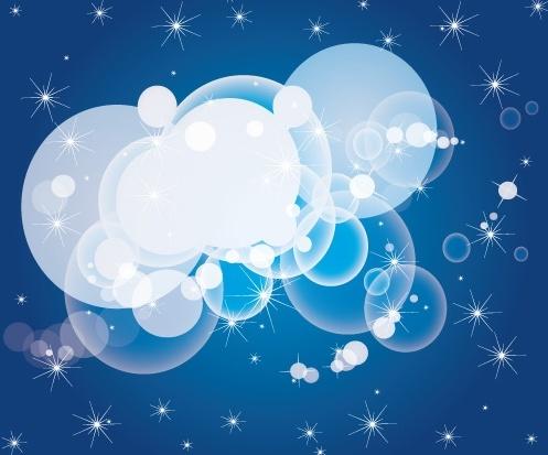 sparkling bokeh background transparent baubles blue design