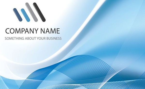 business presentation design logotype blue curves decoration free