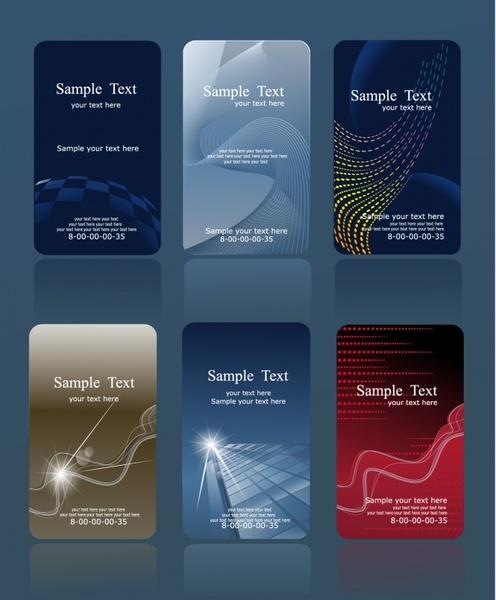 business card cover templates elegant dark modern dynamic
