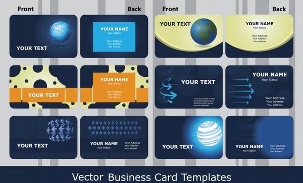 business card templates modern dark technology decor