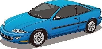 sedan car icon blue sports style